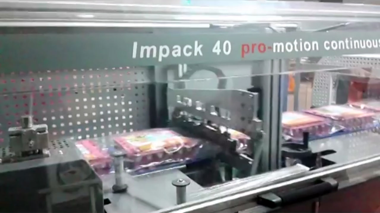 Impack Pro-Motion, Embalaje Retráctil de Cajas de Juevos