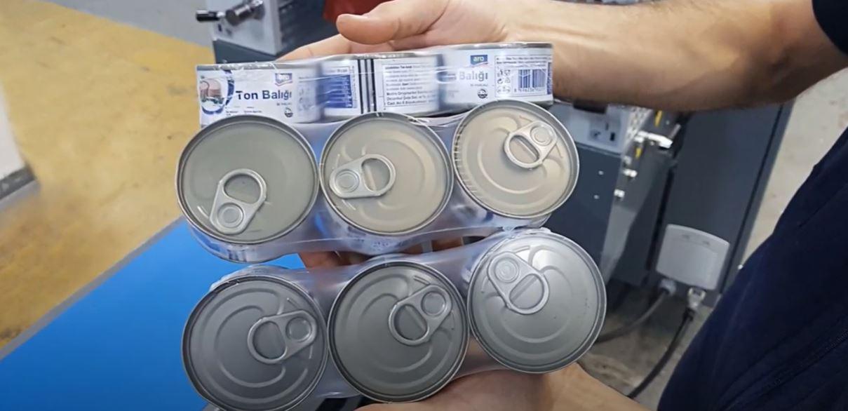 Ton Balığı Shrink Paketleme Makinesi